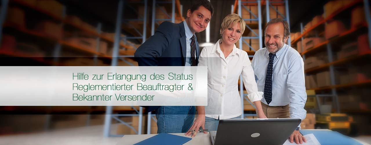 Hilfe zur Erlangung des Status Reg. Beauftragter & Bek. Versender.
